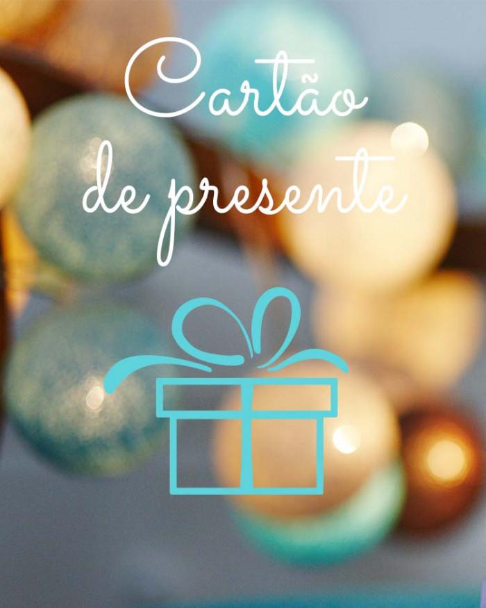 Cartão de presente para o que quiser