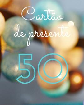 Cartão de presente 50