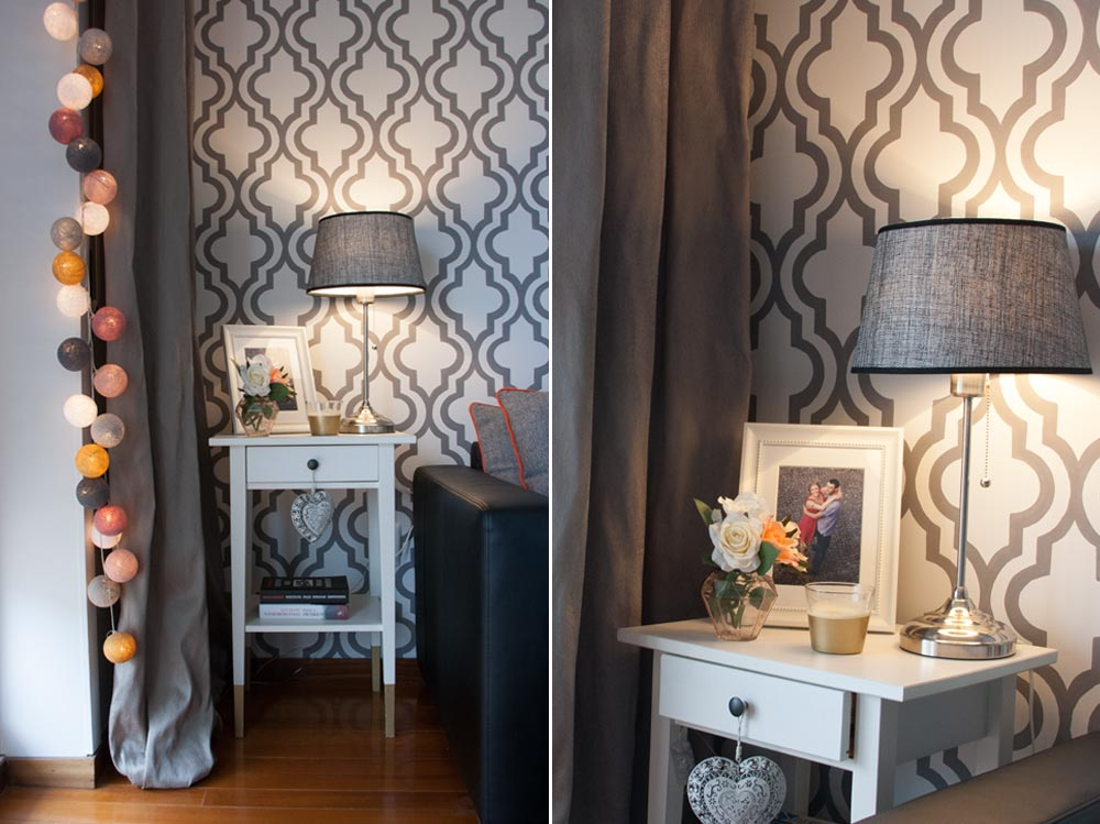 blog papel de parede pintado a m o diy cotton ball lights by luminart. Black Bedroom Furniture Sets. Home Design Ideas